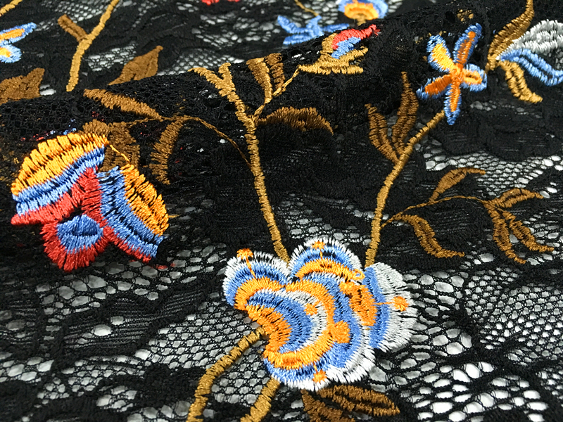 Six Tone Embroidery Fabric
