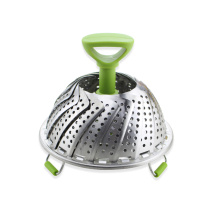 Stainless Steel Foldable Vegetable Steamer Basket