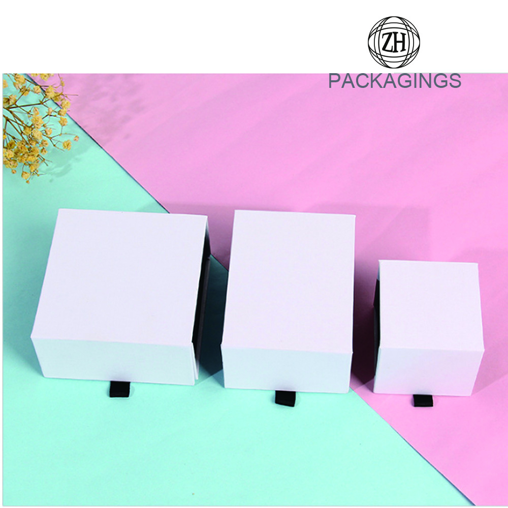 White paper jewelry box custom folding box