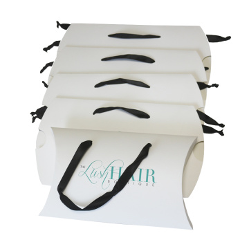Custom Printing Pillow Paper Box for Hair Extensions
