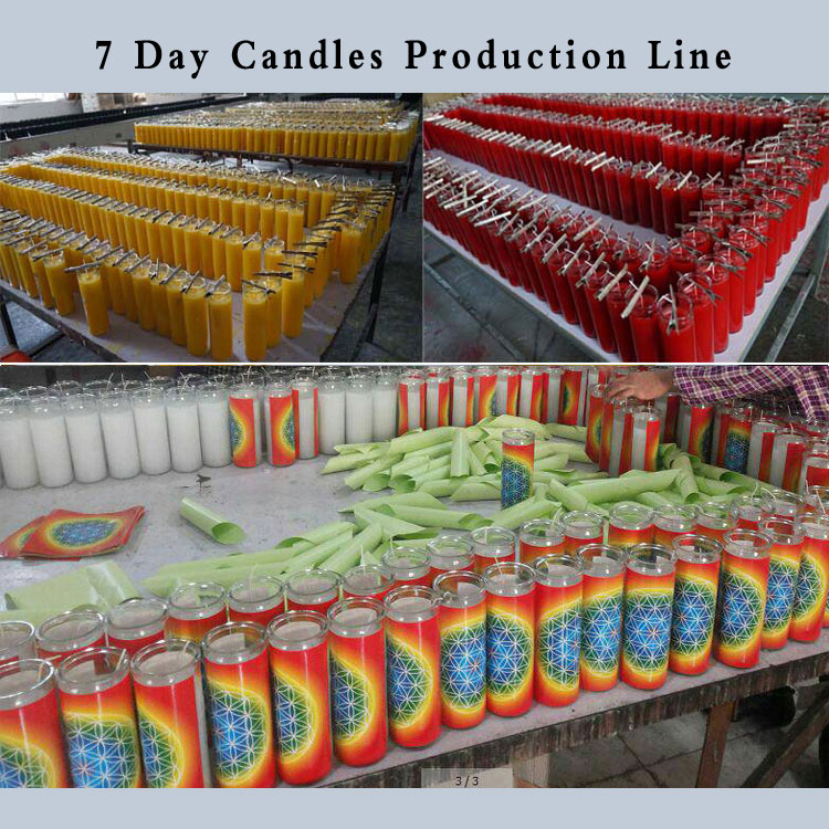 7 day candle glass