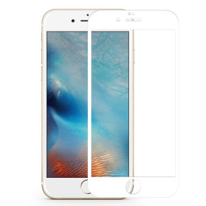 3D White Glass Screen Protector for iPhone 6
