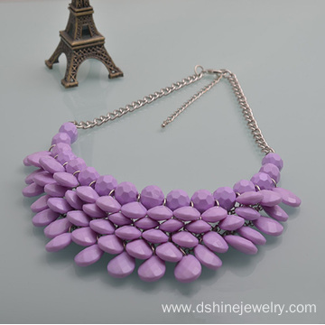 New Fashion Design for for Purple Vintage Necklaces Statement Bubble Necklace Beads Necklace With Earring Set export to Bulgaria Factory