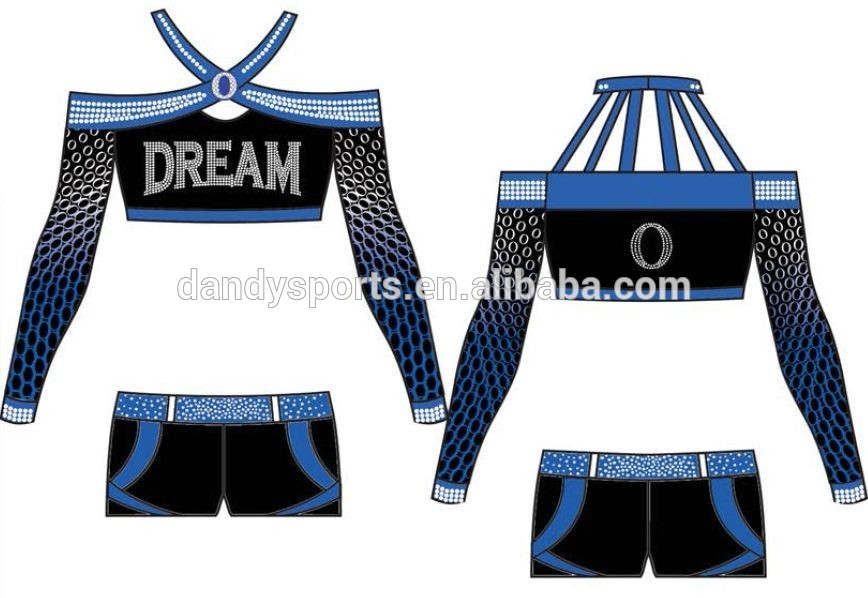 mesh fabric cheer uniform