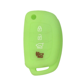 Hyundai 4buttons Silicon fold car key case