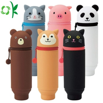 Cartoon Design Silicone Pencil Case for Children