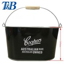 Factory source manufacturing for Metal Tin Ice Bucket Beer Drinking oval beer bucket export to Netherlands Supplier