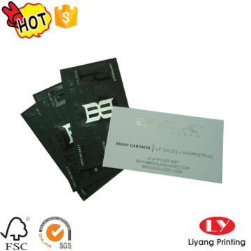 Fashion business cards with silver stamping