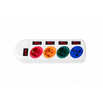 3  European and 1 Universal power strip