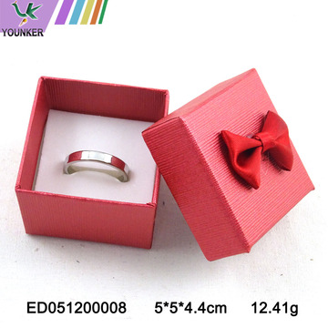Paper Craft Ring Boxes with Bows Red Blue