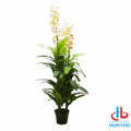 Artificial White And Pink FLower Potted Plant