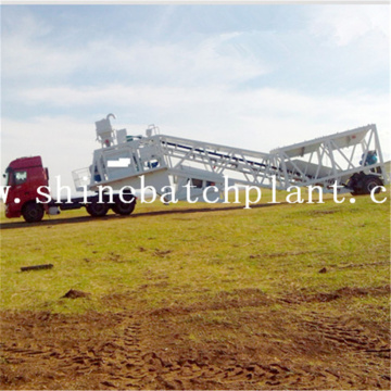 High Volume Mobile Concrete Batching Plant