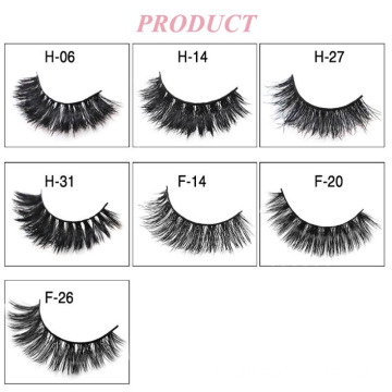 7 Pairs Different Model 3D Mink False Eyelashes With Flower Trays Packaging