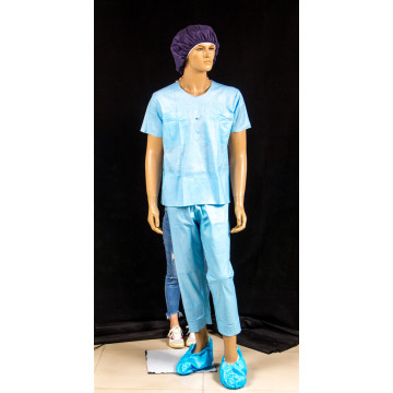 disposable medical patient gown in hospital