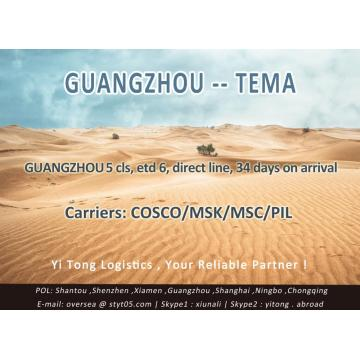 Guangzhou Sea Freight to Tema