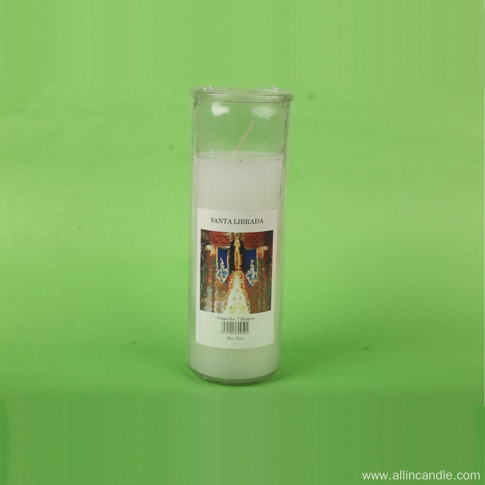 7-day Burning Time Religion Use Jar Candles