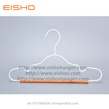 Factory Cheap price for Wooden Clothes Hanger EISHO New Child Metal Hangers With Wood Bar export to United States Factories