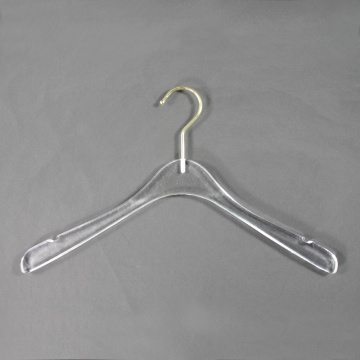 wholesale custom clear acrylic clothes coat hangers