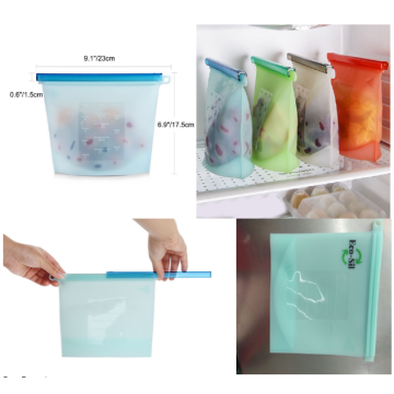 Set Of 4 Useful Silicone Refrigerator Fresh Bag