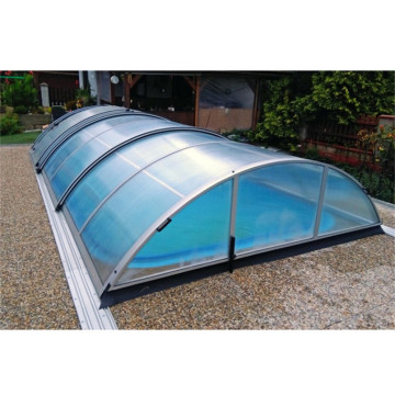Round Green Polycarbonate Swimming Pool Enclosures