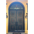 European Style Double Glazed Exterior Wrought Iron Doors