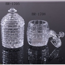 Top for Glass Butter Dish Clear glass honey jar for home export to Russian Federation Manufacturer