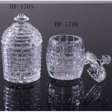 Cheap price for Offer Glass Butter Dish, Glass Honey Jar, Glass Jam Jars, Glass Jewel Box From China Manufacturer Clear glass honey jar for home supply to United Arab Emirates Manufacturers