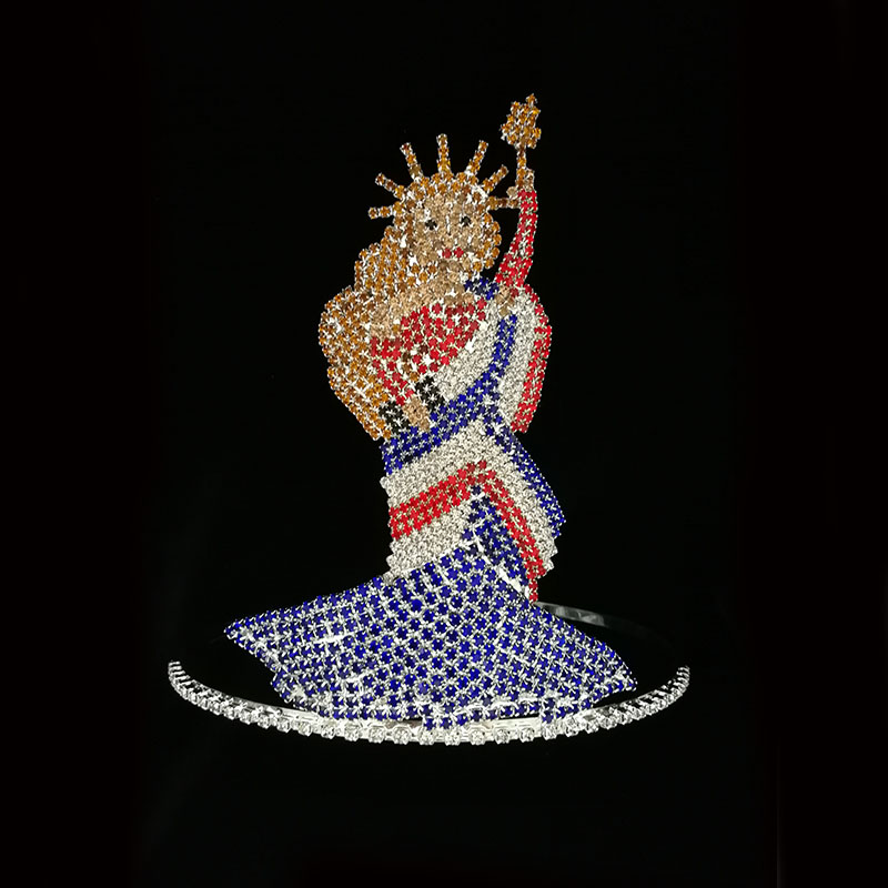 USA Statue Liberty Large Queen Tiara Crown