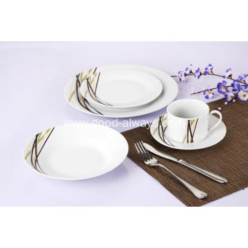 20 Piece Decal Porcelain Dinner Set