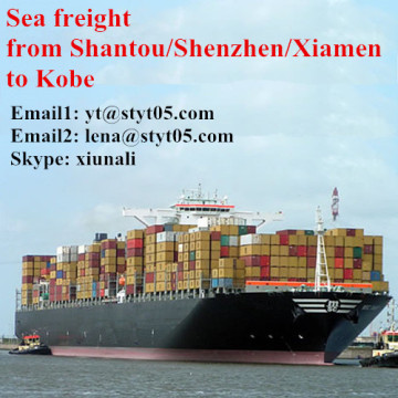 Cargo ocean freight services from Shantou to Kobe