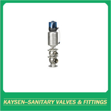 DIN weld Sanitary double seat mixproof valves