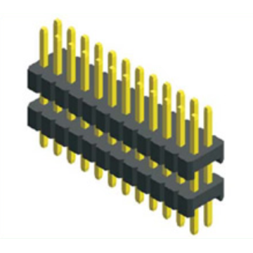 1.27mm Dual Row Double Plastic Straight Type