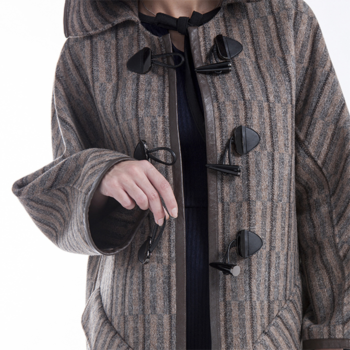 hatted cashmere winter coat