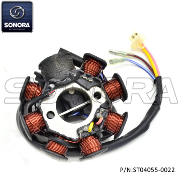 GY6-125 8 Poles 4 wires Stator (P/N: ST04055-0022) Top Quality