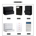 KD structure office lateral 2 drawer file cabinet
