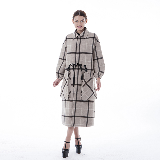 Square winter coat fashion