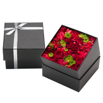 Wholesale Decoration Flower Paper Square Flower Box Rose