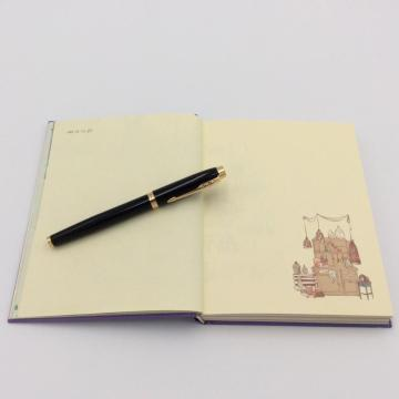 Paper journal notebook with color page
