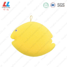 Lovely yellow fish style bath sponge