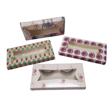 Custom Window Color Printing Eyelashes Paper Box