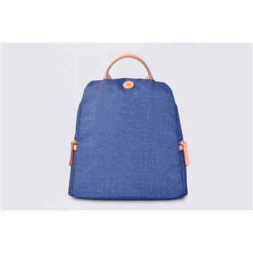Blue Vintage Nylon Backpack Unisex Casual Bookbag