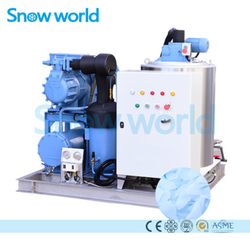 Snow world Flake Ice Machine For Fish 5T