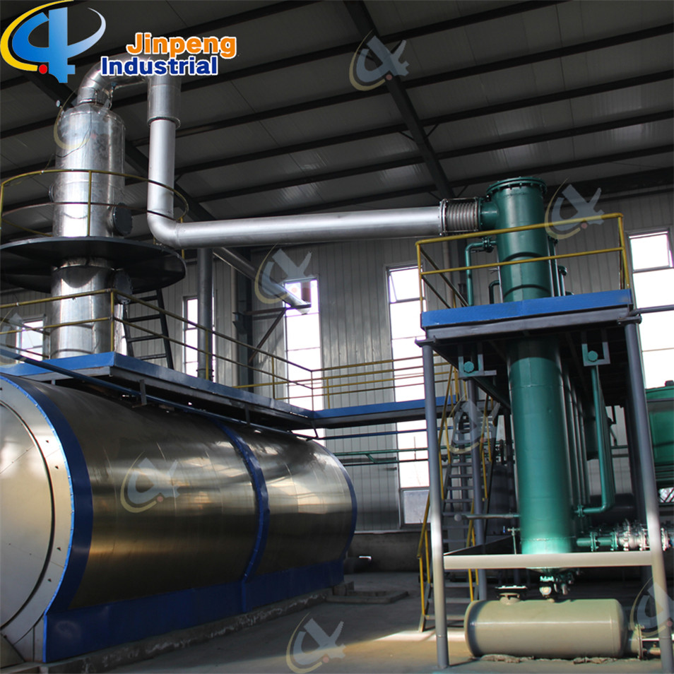Pyrolysis Oil Distillation Plant with Higher Oil Yield