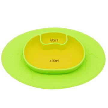 non slip silicone baby plate placemat