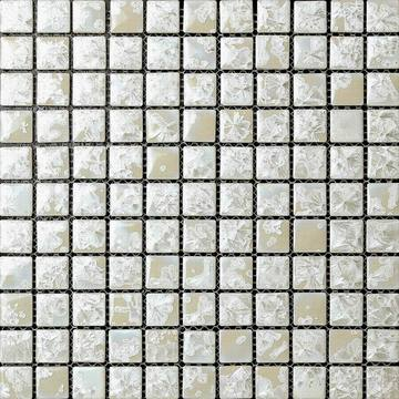 White Glazed Transforming Ceramic Mosaic Tile