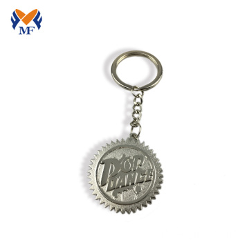 Metal engraving images keyring with chain