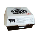 Kraft paper packaging custom cardboard food burger box