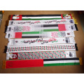 Soft Velvet Warm Material UAE Celebration Scarf with Country Leader Digital Transfer Printing