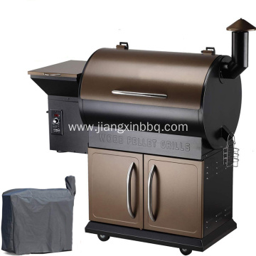 Pellet BBQ Grill With Flame Brolier