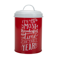 Red kitchen storage canister